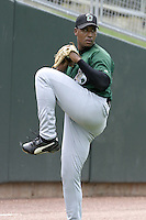 Clinton Lumberkings Juan Carlos Garcia during practice before a Midwest League game at Fifth Third Field on July 18, 2006 in Dayton, Ohio.  (Mike Janes/Four Seam Images)