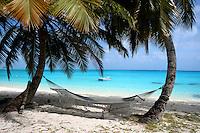 Hammock on Direction Island, Cocos Keeling Islands, Indian Ocean
