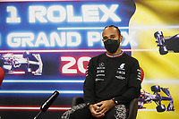 29th August 2021; Spa Francorchamps, Stavelot, Belgium: FIA F1 Grand Prix of Belgium,  race day: After cancellation of the race due to standing water on track,  HAMILTON Lewis (gbr), Mercedes AMG F1 GP W12 E Performance  press conference after race