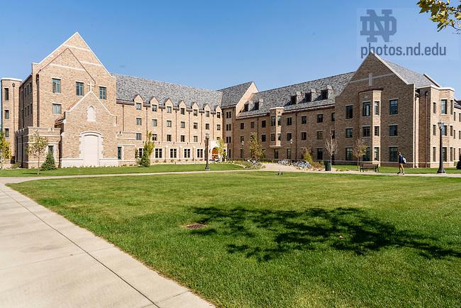 September 25, 2020; Johnson Family Hall (Photo by Barbara Johnston/University of Notre Dame)