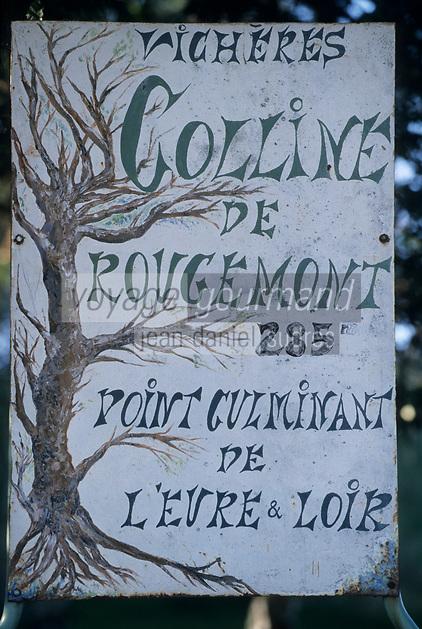 Europe/France/Normandie/Basse-Normandie/61/Orne/Vichères : Panneau colline de Rougemont
