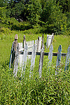 Wooden picket fence
