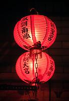 San Francisco, California, USA. Chinatown. Lanterns in Ma Tsu Temple, a Taoist Temple.