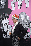 """Queen Elizabeth ii Diamond Jubilee fancy dress ball at the Chelsea Arts Club. """"A Night of a 1000 Queens"""". Chelsea Arts Club drinks outside, newly decorated building for the occasion."""