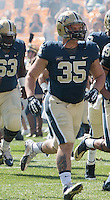 Pitt fullback Trent Neavin. The Pitt Panthers defeated the Virginia Cavaliers 14-3 at Heinz Field, Pittsburgh, PA on Saturday, September 28, 2013.
