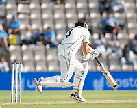 Ross Taylor, New Zealand takes a nasty blow from Jasprit Bumrah, India during India vs New Zealand, ICC World Test Championship Final Cricket at The Hampshire Bowl on 23rd June 2021