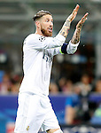 Real Madrid's Sergio Ramos during UEFA Champions League 2015/2016 Final match.May 28,2016. (ALTERPHOTOS/Acero)