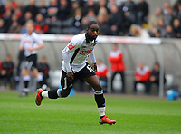 ATTENTION SPORTS PICTURE DESK<br /> Pictured: Nathan Dyer of Swansea City in action<br /> Re: Coca Cola Championship, Swansea City Football Club v Newcastle United at the Liberty Stadium, Swansea, south Wales. 13 February 2010