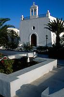 Spanien, Kanarische Inseln, Lanzarote, Kirche in Uga
