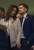 Crystal Palace owner Steve Parish and Susanna Reid during the Premier League match between Chelsea and Crystal Palace at Stamford Bridge, London, England on 4 November 2018. Photo by Andy Rowland.<br /> .<br /> (Photograph May Only Be Used For Newspaper And/Or Magazine Editorial Purposes. www.football-dataco.com)