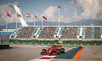 26th September 2020, Sochi, Russia; FIA Formula One Grand Prix of Russia, qualification;  16 Charles Leclerc MCO, Scuderia Ferrari Mission Winnow