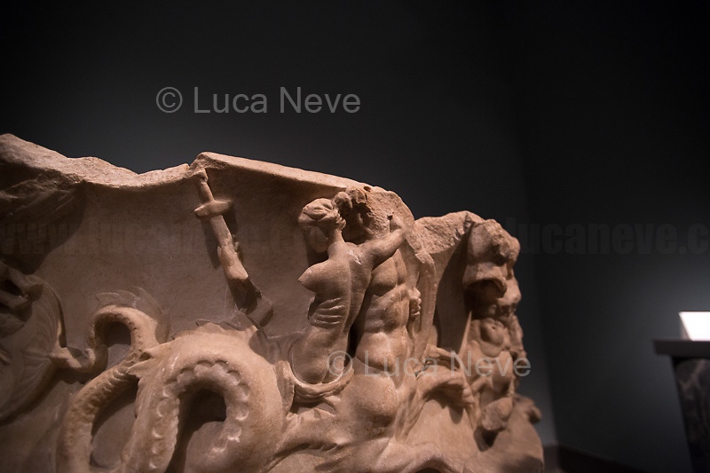 Rome, 03/11/2019. Vising and documenting Palazzo Massimo part of the Museo Nazionale Romano (National Roman Museum).<br />