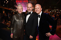 BEVERLY HILLS - JANUARY 5: (L-R) THE POLITICIAN Producer Lou Eyrich, Daniel Minahan, and THE POLITICIAN Executive Producer Ryan Murphy attend The Walt Disney Company 2020 Golden Globe Awards Nominee Celebration at The Disney Terrace on the Roof Deck at the Beverly Hilton on January 5, 2020 in Beverly Hills, California. (Photo by Frank Micelotta/The Walt Disney Company/PictureGroup)