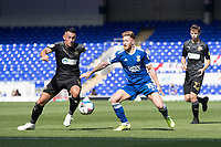 Teddy Bishop of Ipswich Town dispossessed by Gary Roberts, Wigan Athletic,  during Ipswich Town vs Wigan Athletic, Sky Bet EFL League 1 Football at Portman Road on 13th September 2020