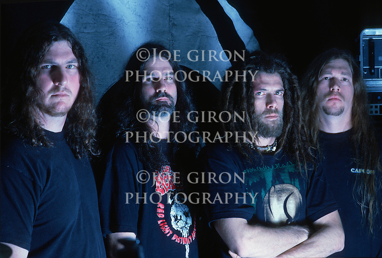 Various portrait sessions of the rock band, Six Feet Under