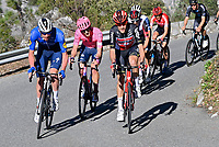14th March 2021, Levens, France;  DECLERCQ Tim (BEL) of Deceuninck - Quick Step and OLDANI Stefano (ITA) of Lotto Soudal during stage 8 of the 79th edition of the 2021 Paris - Nice cycling race, a stage of 92,7 kms between Plan-du-Var and Levens on March 14, 2021 in Levens, France