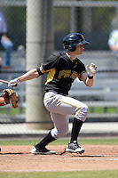 Pittsburgh Pirates infielder Maxwell Moroff (72) during a minor league spring training game against the Philadelphia Phillies on March 18, 2014 at the Carpenter Complex in Clearwater, Florida.  (Mike Janes/Four Seam Images)