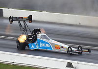 Sep 6, 2020; Clermont, Indiana, United States; NHRA top fuel driver Tony Schumacher during the US Nationals at Lucas Oil Raceway. Mandatory Credit: Mark J. Rebilas-USA TODAY Sports