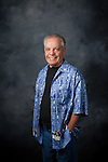 """Guy Buffet sports one of his signature 100% silk shirts<br /> """"Calvacade of Waiters"""" for the <br /> Guy Buffet Collection c.<br /> <br /> Sold Out"""