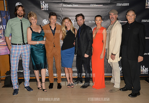 """Brett Jacobsen & Joanna Cassidy & John Hawkes & Vail Bloom, Rider Strong, Natalie Zea, Jeff Fahey & Robert Forester at the premiere of """"Too Late"""", part of the LA Film Festival, at the Bing Theatre at LACMA.<br /> June 11, 2015  Los Angeles, CA<br /> Picture: Paul Smith / Featureflash"""