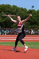 4 May 2008: Stanford Cardinal Lauren Stewart during Stanford's Payton Jordan Cardinal Invitational at Cobb Track & Angell Field in Stanford, CA.