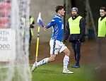 St Johnstone v Dundee….03.04.19   McDiarmid Park   SPFL<br />Matty Kennedy celebrates his goal<br />Picture by Graeme Hart. <br />Copyright Perthshire Picture Agency<br />Tel: 01738 623350  Mobile: 07990 594431