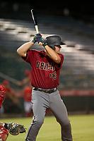 AZL Diamondbacks third baseman Buddy Kennedy (43) at bat against the AZL Angels on August 20, 2017 at Diablo Stadium in Tempe, Arizona. AZL Angels defeated the AZL Diamondbacks 19-1. (Zachary Lucy/Four Seam Images)