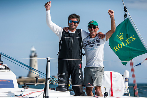 Defending their 2019 Rolex Fastnet Race IRC Two Handed title - Alexis Loison and Jean Pierre Kelbert on JPK 10.30 Léo