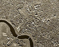 historical aerial photograph Charles River, Harvard University,  Cambridge, Massachusetts, 1955