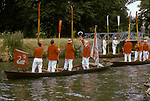 Swan Upping. The River Thames near Windsor Berkshire England 1980s. Toasting the Queen at Romney Lock at the end of the first day of Upping.