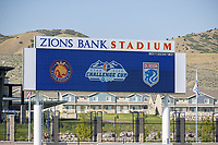 HERRIMAN, UT - JULY 8: Zions Bank Stadium general view during a game between OL Reign and Utah Royals FC at Zions Bank Stadium on July 8, 2020 in Herriman, Utah.