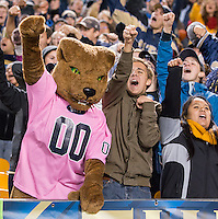 Pitt Panther mascot.The Pitt Panthers defeated the Old Dominion Monarchs 35-24 at Heinz Field, Pittsburgh, Pennsylvania on October 19, 2013.