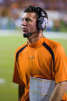 04 November 2006: Oklahoma State head coach Mike Gundy watches his team from the sidelines during the Texas Longhorns 36-10 victory over the Oklahoma State University Cowboys at Darrel K Royal Memorial Stadium in Austin, Texas.