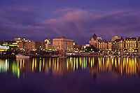 Inner Harbour and Empress Hotel at Dusk, Victoria, British Columbia, Canada.