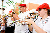 """The band plays at the """"Dancing of the Children's Giglio"""" on July 7, 2006."""