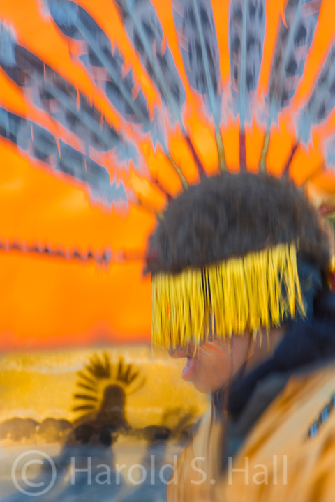Indian dances at sunrise, News Year Day in Taos.  These were not at all publicized and there were no more than 10 gringos in attendance.  It was a very family oriented event.