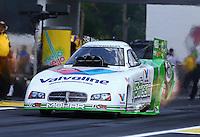 Jun. 2, 2013; Englishtown, NJ, USA: NHRA funny car driver Jack Beckman during the Summer Nationals at Raceway Park. Mandatory Credit: Mark J. Rebilas-