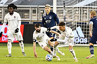 KANSAS CITY, KS - OCTOBER 24: Cole Bassett #26 Colorado Rapids comes away with the ball during a game between  at Children's Mercy Park on October 24, 2020 in Kansas City, Kansas.