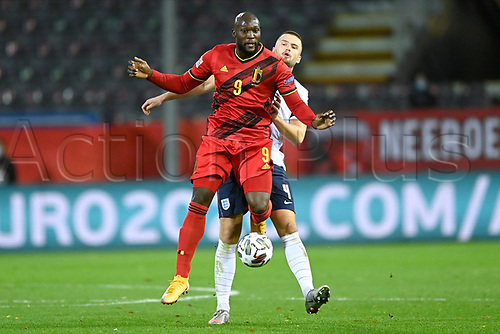 15th November 2020; Leuven, Belgium;  Romelu Lukaku forward of Belgium battle for the ball with Eric Dier defender of England during the UEFA Nations League match group stage final tournament - League A - Group 2 between Belgium and England