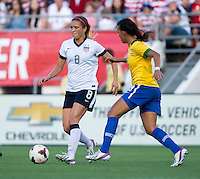 Kristie Mewis, Laylla.  The USWNT defeated Brazil, 4-1, at an international friendly at the Florida Citrus Bowl in Orlando, FL.