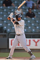 Tacoma Rainiers short stop Gabriel Noriega (12) during pacific coast league baseball game, Saturday August 16, 2014 in Round Rock, Tex. Tacoma Rainiers win game one of the best of four series 8-7. (Mo Khursheed/TFV Media via AP Images)