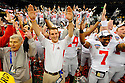 The Ohio State University football celebrates their win at the Allstate Sugar Bowl in New Orleans, Louisiana January, 4, 201. The Ohio State Buckeyes defeated the Arkansas Razorbacks, 31- 26.<br /> <br /> <br /> <br /> (Cheryl Gerber/AP Images for Allstate)