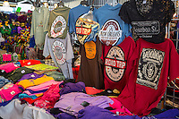 French Quarter, New Orleans, Louisiana.  T-shirts for Sale in the French Market.
