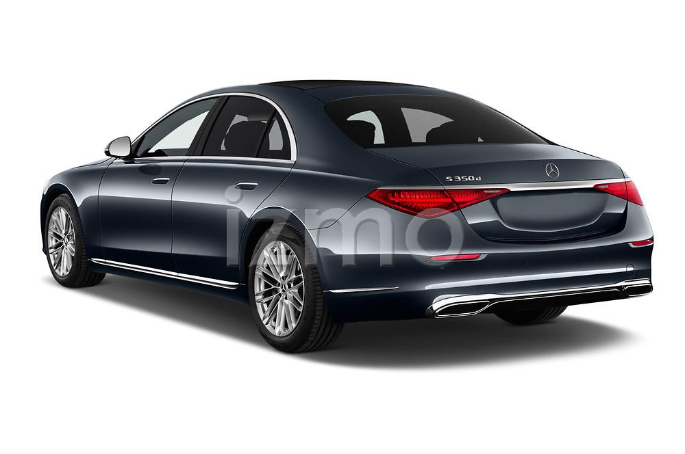 Car pictures of rear three quarter view of 2021 Mercedes Benz S-Class - 4 Door Sedan Angular Rear