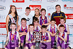 The Scartaglen NS  team celebrate after defeating Gaelscoil Aogain in the Senior Boys NS Boys B final  at the St Marys Basketball Blitz on Monday Front row l-r: Aodhan O'Connor, Gary Boyle, Dylan Herlihy, Kyle Buckley. Back row: Freddie Mahony, Cormac Walsh, Conor Reidy, Adam Tangney, Ryan Walsh-Murphy, Back row: Paris McCarthy, Cian Walsh-Murphy,  Ciara Carey, Paul Moroney