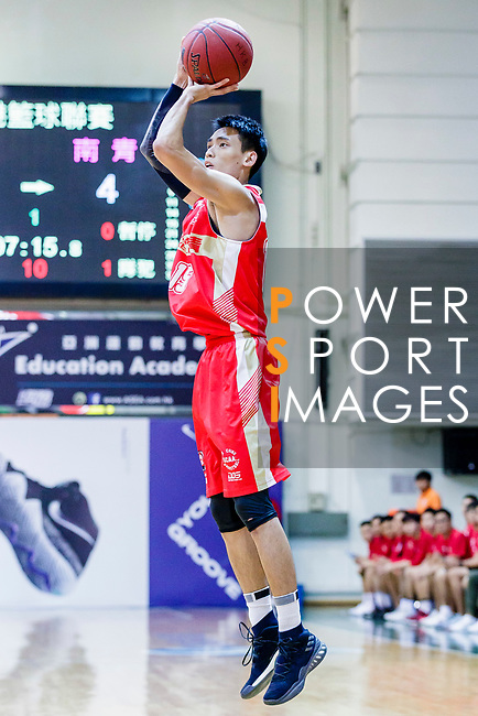 Ng Ka Hin #15 of Nam Ching Basketball Team tries to score against the Eagle during the Hong Kong Basketball League game between Eagle and Nam Ching at Southorn Stadium on June 22, 2018 in Hong Kong. Photo by Yu Chun Christopher Wong / Power Sport Images