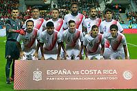 Costa Rica's team photo during international friendly match. November 11,2017.(ALTERPHOTOS/Acero)