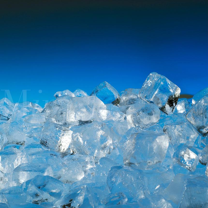 Cubes of ice.