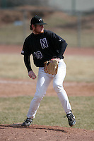 March 22nd 2009:  Pitcher Bill Rafferty (49) of the Niagara University Purple Eagles during a game at Sal Maglie Stadium in Niagara Falls, NY.  Photo by:  Mike Janes/Four Seam Images