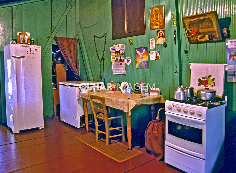 Casa de fazenda em Iguaçú. PR. Foto de Zaida Siqueira.